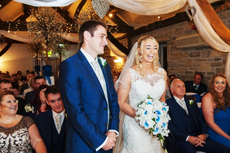 Sarah and Eddie wedding ceremony at Tankersley Manor
